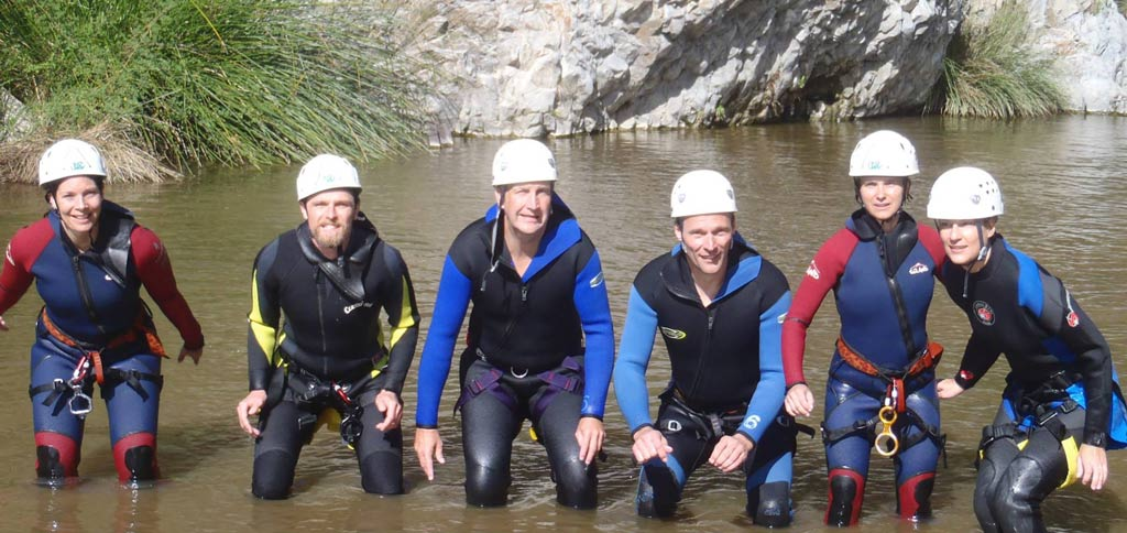 Corporate entertainment on the Costa del Sol with Canyoning Benahavis