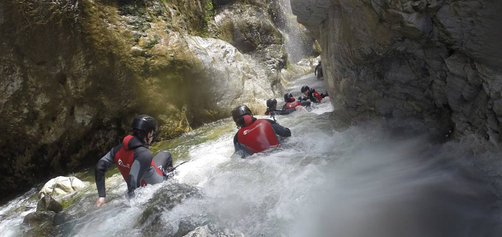 Canyoning Benahavis in the river