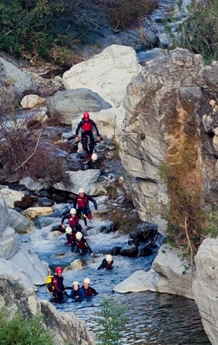 Canyoning walking in Benahavis for families and Children
