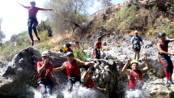 Corporate Team Building, Canyoning in Benahavis, Costa del Sol, Spain