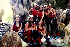Hen Canyoning in Benahavis, Costa del Sol, Spain, Hen do adventures